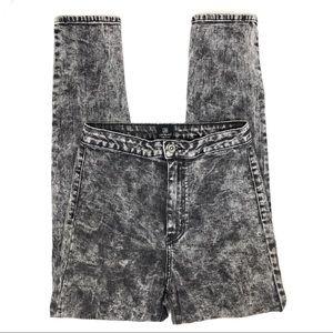 JustBlack Acid Wash High Rise Skinny Jeans